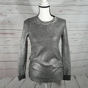 Crewneck sweater Rock & Republic silver Large